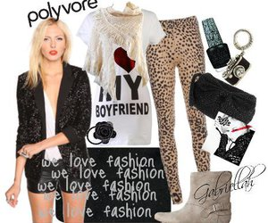 fashion, leopard, and heart image