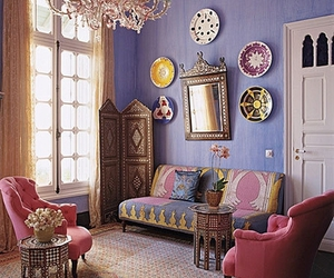 decor, interior, and pink image