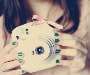 camera, pink, and nails image