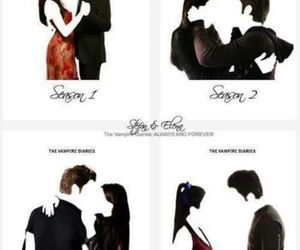 elena gilbert, stefan salvatore, and tvd image