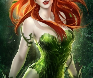poison ivy, art, and green image