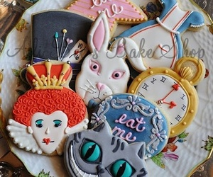 Cookies, alice, and alice in wonderland image