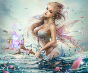 art, blue, and fairy image