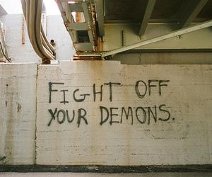 demons, fight, and graffiti image