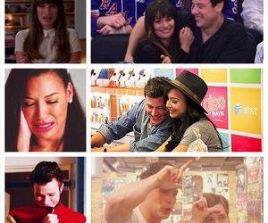 glee, lea michele, and naya rivera image