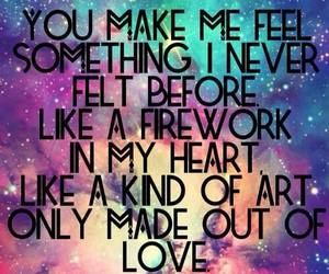 love, quote, and fireworks image