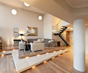 apartment, city, and interior image