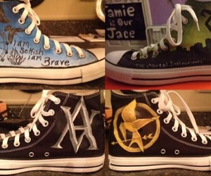 shoes, divergent, and hunger games image