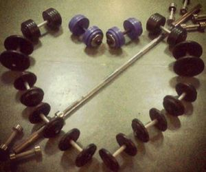 gym, love, and heart image