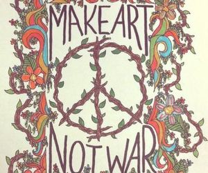 art, peace, and war image