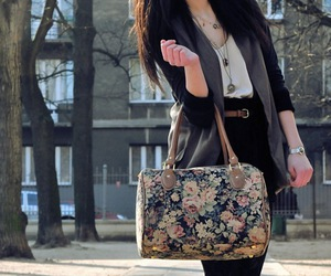 fashion, bag, and floral image