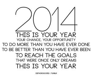 2014, quote, and new year image