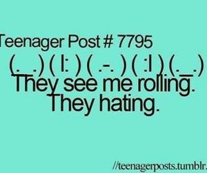 lol, hating, and rollin image