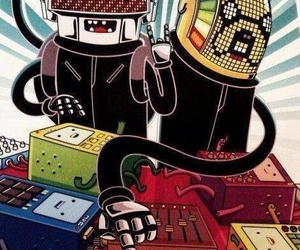 adventure time, daft punk, and finn image
