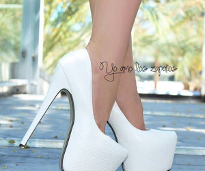 white, shoes, and high heels image