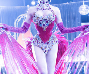 Dita von Teese, burlesque, and feathers image