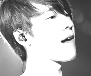 donghae, super junior, and grayscale image