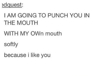 kiss, punch, and tumblr image