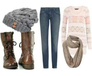 winter, outfit, and fashion image
