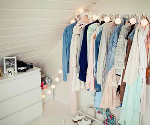 clothes, room, and light image