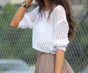 fashion, girl, and skirt image