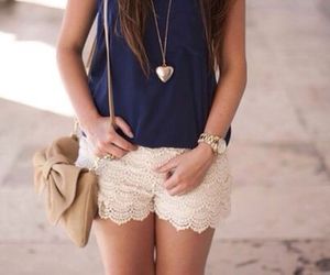 shorts, white, and fashion image