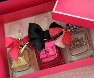 perfume, pink, and juicy couture image
