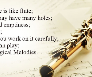 flute, life, and music image