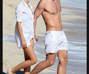 beach, couple, and fit image