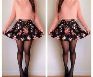 floral, outfit, and pink image