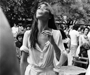 smoke, jane birkin, and black and white image