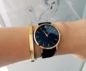 watch, fashion, and black image