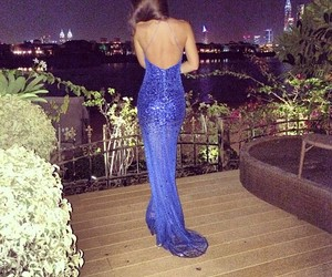 dress, blue, and luxury image
