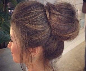beautiful, bun, and fashion image