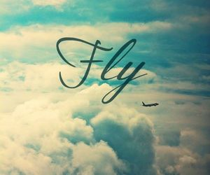 airplane, young, and clouds image