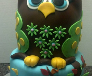 cake, owl, and yummy image