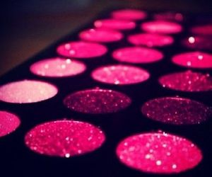 glitter, sweet heart, and make up image