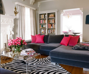 pink, room, and house image