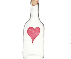 drawing and bottle image