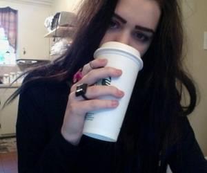 girl, starbucks, and pale image