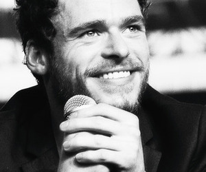 actor, richard madden, and black and white image