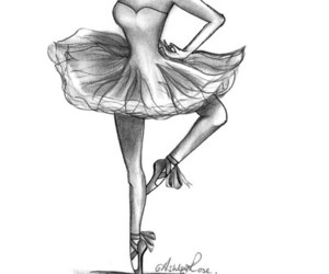 ballet, black and white, and dancer image