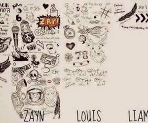 one direction, tattoo, and zayn malik image