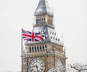 london, Big Ben, and winter image