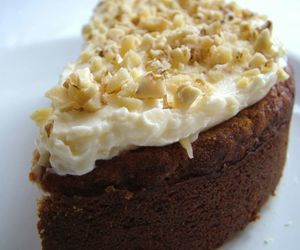 baked, carrot cake, and sugar image