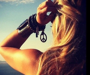 girl, peace, and summer image