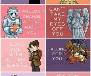 doctor who, Dalek, and weeping angel image