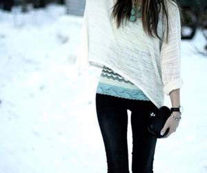 winter, outfit, and hair image