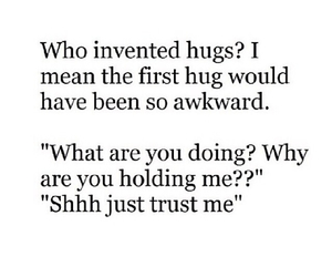 hug and awkward image