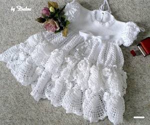 adorable, baby, and dress image